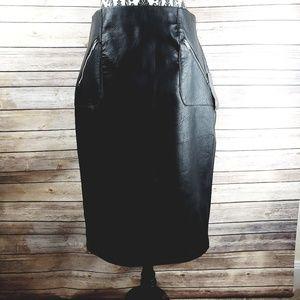 NWT ZARA Faux leather pencil skirt